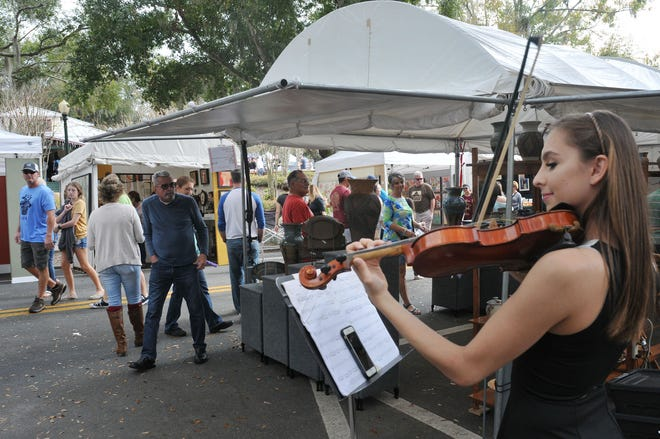 The Eustis Busker Festival from run from 10 a.m. to 8 p.m. in downtown Eustis and Ferran Park.