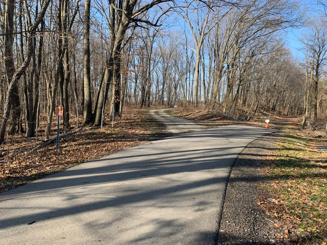 American Municipal Power paved a portion of the Heartland Trail between the trailhead and the solar field access road in 2017. Marshallville will create limestone walking paths through the wooded property west and southwest of the solar field.