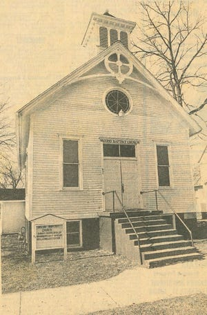 The Second Baptist Church at 607 N. Broad St., Adrian, is seen as it appeared in the March 7, 1987, edition of The Daily Telegram, when the church was placed on the Michigan Historical Commission's Register of Historic Places. The building was constructed in 1900.