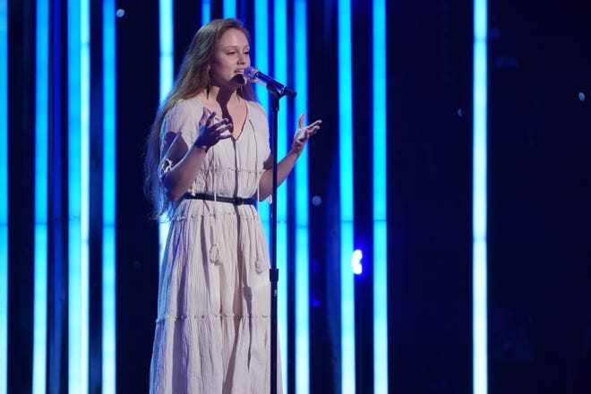 """Columbia's Cassandra Coleman performs on """"American Idol"""" as the show kicks off its iconic Hollywood Week, Sunday, March 21, 2021. Coleman will also advance to Round 2, which will feature the """"duet"""" portion of the singing competition."""