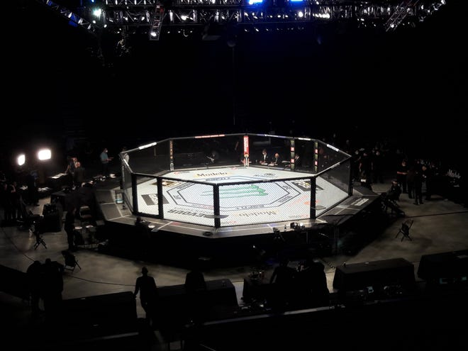 When the UFC came to Jacksonville in May, no fans were in attendance. Plans call for up to 15,000 when UFC returns in April.