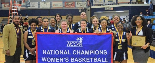 Former Texoma Christian standout Dee Ellison (left) led Champion Christian College to a national championship in his second season at the school.