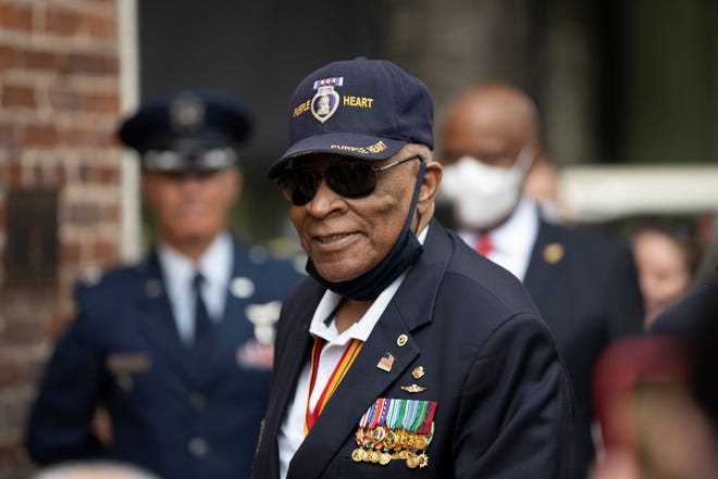 Major James Capers Jr. at an event held in his honor in his hometown of Bishopville, SC, Aug. 29, 2020.