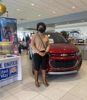 Almeda Benefield is the winner of a brand new Chevy Trax donated by Marine Chevrolet during the United Way of Onslow County's 2020-2021 Champion Challenge Car Giveaway. It has been 10 consecutive years that Marine Chevrolet has provided a vehicle to the United Way.