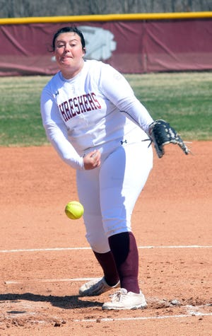 Bethel freshman pitcher Skylar Jackson pitched a complete-game loss against Oklahoma Wesleyan in KCAC play, allowing one earned run with three strikeouts.