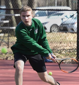 Aurora's Mitchell Curtis won a hotly-contested match over Twinsburg's sophomore, Jake Terbeek, 6-4, 2-6, 6-3.