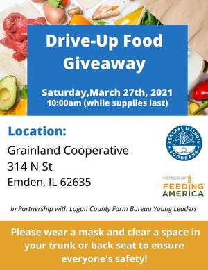 Food giveaway will be held in Emden Saturday, March 27.