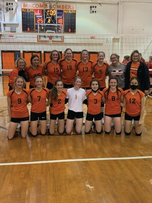 The Macomb eighth grade sectional champion volleyball team.
