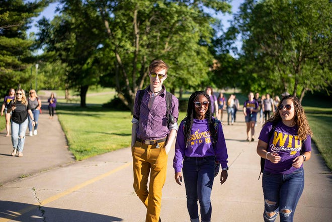 Students on campus June 2020