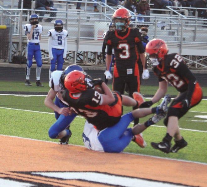 Max Ryner scores a touchdown.