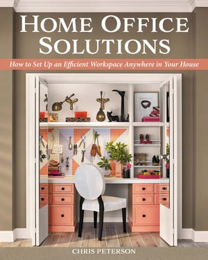 Converting a closet into a home office is one of many creative home office solutions author Chris Peterson covers in his newest book.