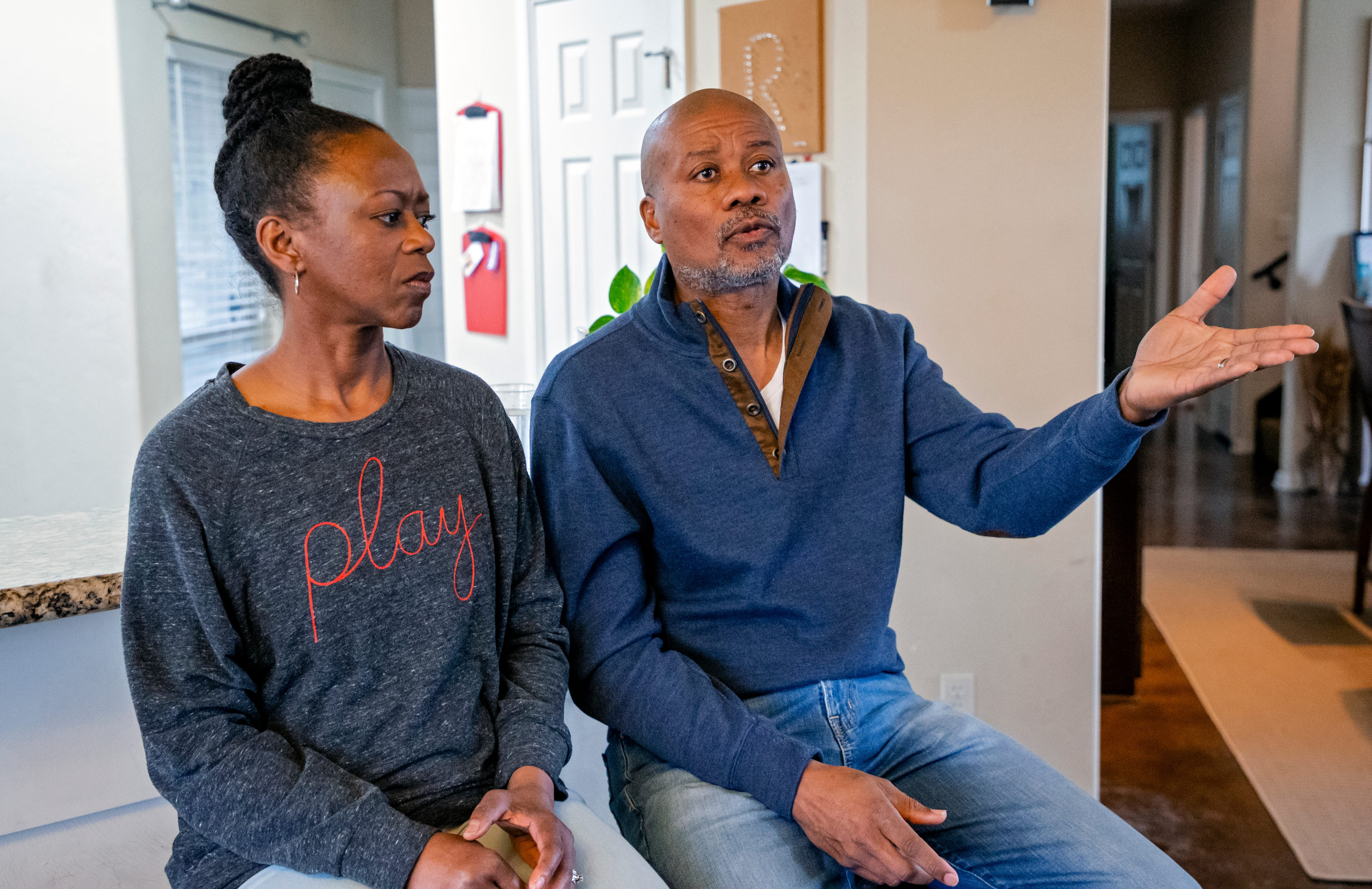 Homeowners Rodney and Cresha Redus love their John F. Kennedy neighborhood, but they do not like the explosions from nearby scrapyards.