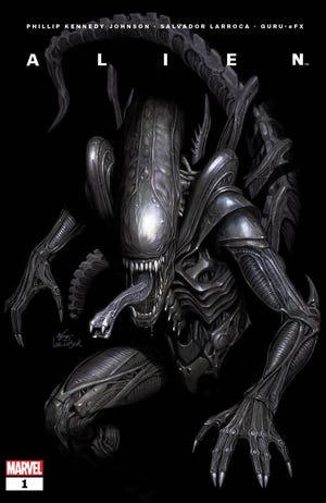 """The cover to the first Marvel Comics issue of """"Alien."""""""