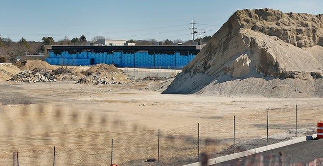 Construction at the former Hanover Mall location. Greg Derr/The Patriot Ledger