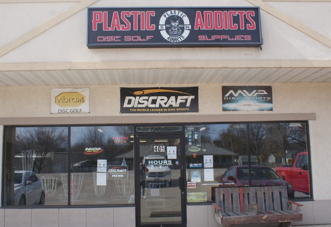 Plastic Addicts Disc Golf Supplies, located at 405 Radio City Drive, North Pekin, has seen sales increase dramatically since the beginning of the COVIOD-19 pandemic last year.
