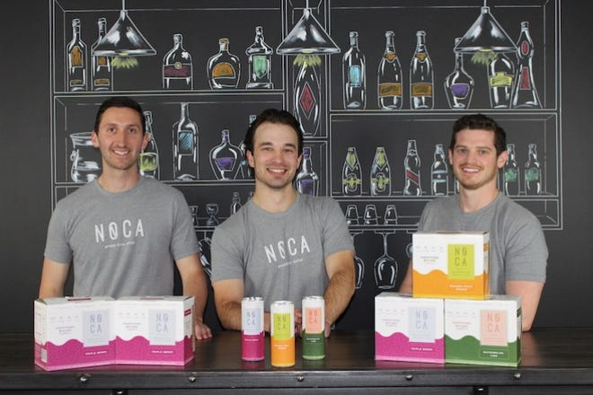 Richard Roy, Galen Hand and Alex Febonio are the founders of NOCA, a bubble-free boozy water.