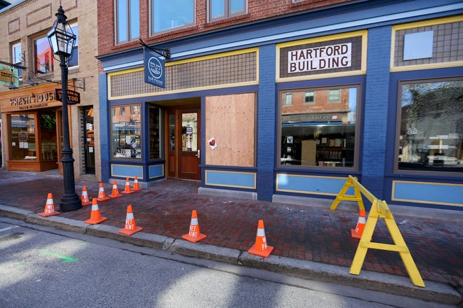 Bull Moose Music was expected to reopen Monday afternoon after an early morning caller alerted the Portsmouth Police Department to a smashed window at the Congress Street store.