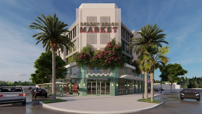 An artist's rendering of the upcoming Delray Beach Market.