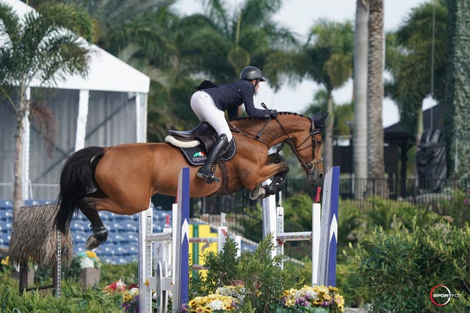 Ireland's Darragh Kenny won the $137,000 Horseware Ireland Grand Prix CSI3 for the second consecutive year at Palm Beach International Equestrian Center.