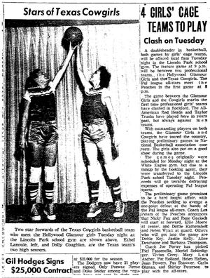 Stories from a 1952 edition of the Rockford Morning Star included a feature on the all-women Texas Cowgirls, who were based in the Winnebago County area for nearly three decades.