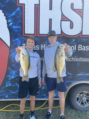 Ben Kirbo and Coy Eakin finished in 18th place catching two fish weighing 7.37 pounds and received $30 gift cards when the SHS Bass Club competed on March 6 at Lake Ray Roberts.