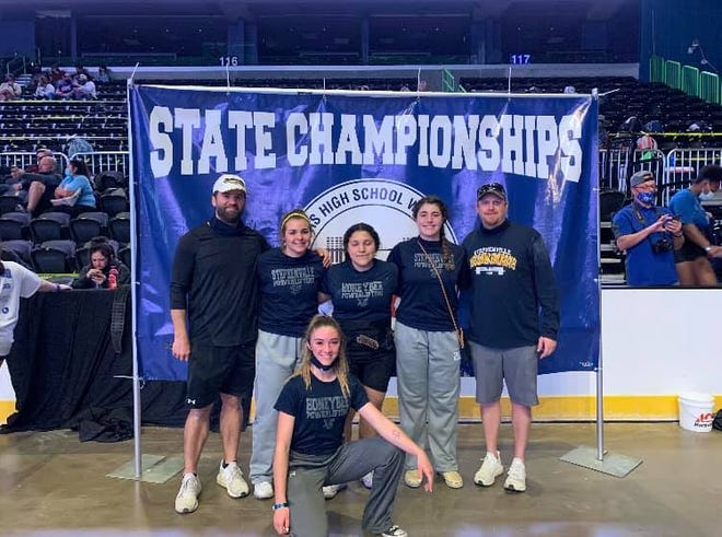 Stephenville High School powerlifters took part in the girls state meet held this past weekend in Corpus Christi. The Bees' Arianna Rosati-Floyd placed fifth; Carolina Soto placed 13th; Maddie Durant placed 10th; and Lila Richards placed 12th.