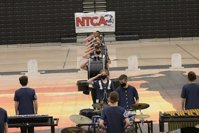 """The Stephenville High School indoor drumline took part in its fourth competition on Saturday. They received first place, making their competitions so far: first, second, first and first. The group's final show is set for Saturday at 6:27 p.m. at Mansfield High School. The drumline performs """"21 Guns,"""" a tribute to honoring the military."""