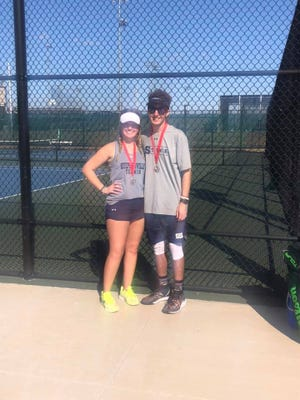 Stephenville High School tennis' Dylan Jones and Shyla Smith took second place in mixed doubles at the Waxahachie Invitational last Friday in Waxahachie.