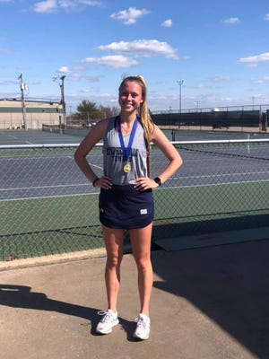 Stephenville High School's Bailey Kammerer took first place in girls singles last Friday at the Waxahachie Invitational held in Waxahachie.