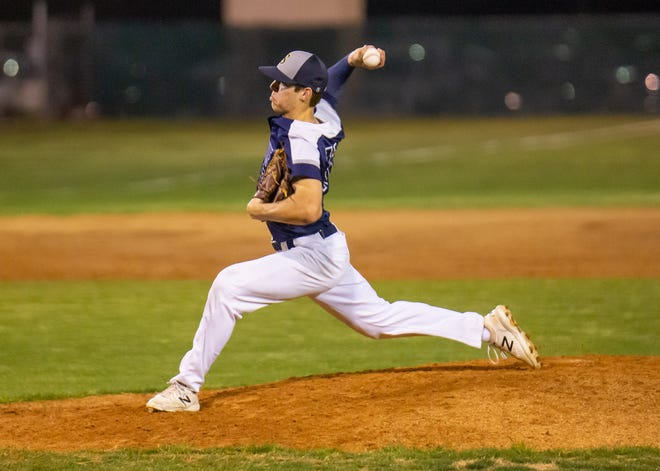 Stephenville's Trace Morrsion struck out the side with the bases loaded to preserve a 4-3 victory over Glen Rose.