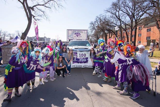 Tarleton's Purple Poo group marked its 100th anniversary during Saturday's Homecoming parade.