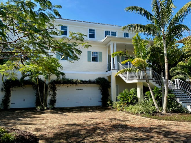 This home at 6111 Gulf of Mexico Drive on Longboat Key hit the market and sold in February, a month where home prices continued to rise.
