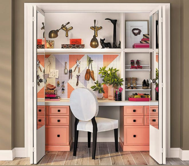 MAKING HOME WORK: Converting a closet into a home office is one of the many creative home office solutions author Chris Peterson covers in his newest book.