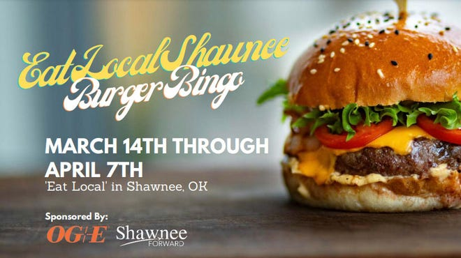 For those who would like to support Shawnee eateries, OG&E and Shawnee Forward are sponsoring an Eat Local Shawnee Burger Bingo event through April 7.