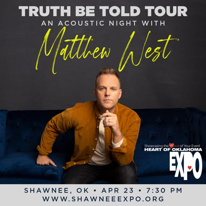 Matthew West will perform April 23 at the expo center. Tickets are on sale now.