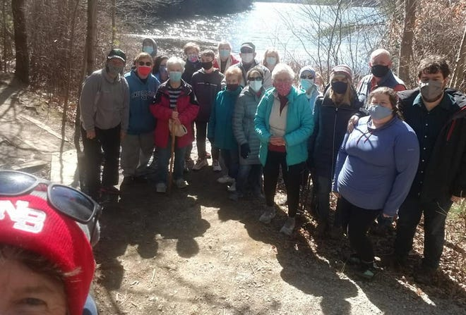 A group from North Congregational Church in Middleboro recently gathered for a hike together in Massasoit State Park on a beautiful day.