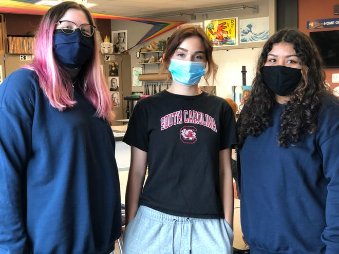 Seaman High School students Sam Myers, Reagan Carter and Daisy Solis were among 16 Kansas students whose work was picked out of 320,000 student entries for recognition in the 2021 National Scholastic Art and Writing Awards.
