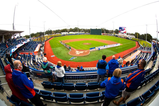 Capacity at Florida Ballpark, softball, tennis and track events on campus will expand after UF announced Monday it is shifting physical distancing guidelines from 6 feet to 3 feet for outdoor sporting events, increasing from an estimated 1,700 fans to about 3,000 for baseball, and from around 500 fans to about 850 for softball.