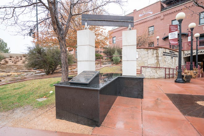 The 9/11 memorial located in front of the Center for American Values on the Historic Arkansas Riverwalk of Pueblo. State Senate President Leroy Garcia introduced legislation to create a pilot program to help prevent suicide among veterans, especially those who served in Iraq and Afghanistan.