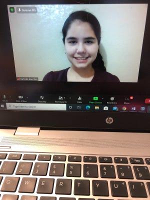 Lucerne Valley Middle High School eighth grade student Belinda Sanchez.
