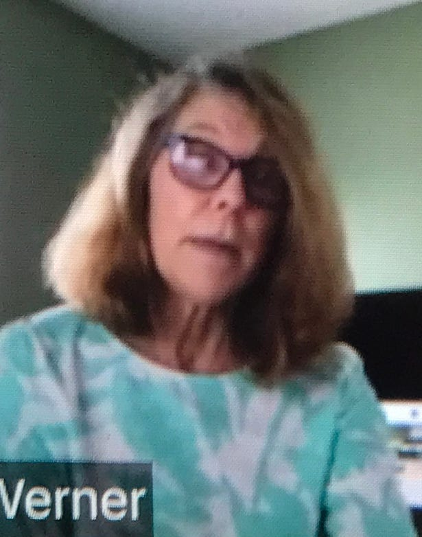 Former EMU Title IX coordinator Melody Werner is shown in a screenshot of a Nov. 5, 2020, meeting with the Free Press.