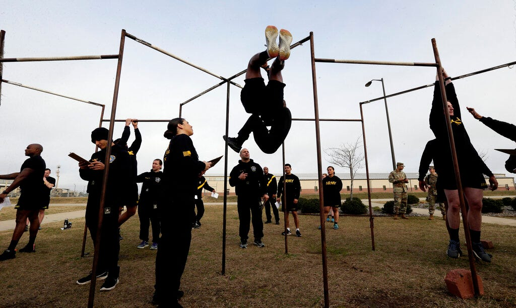 Army revamps fitness exam, kicks out leg tuck test many fail 2