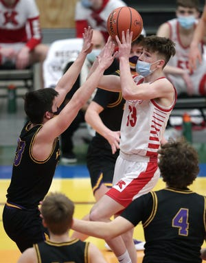 Kimberly junior guard Jackson Paveletzke (13) was named to The Associated Press all-state second team Monday.