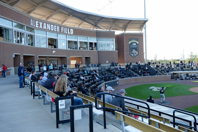 Inside Alexander Field during the seventh inning of a NCAA baseball game between the Purdue Boilermakers and the Southeast Missouri State Redhawks, Friday, April 26, 2019 in West Lafayette.
