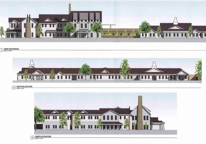 The design for the planned NHC senior assisted living facility in the City of Dickson.