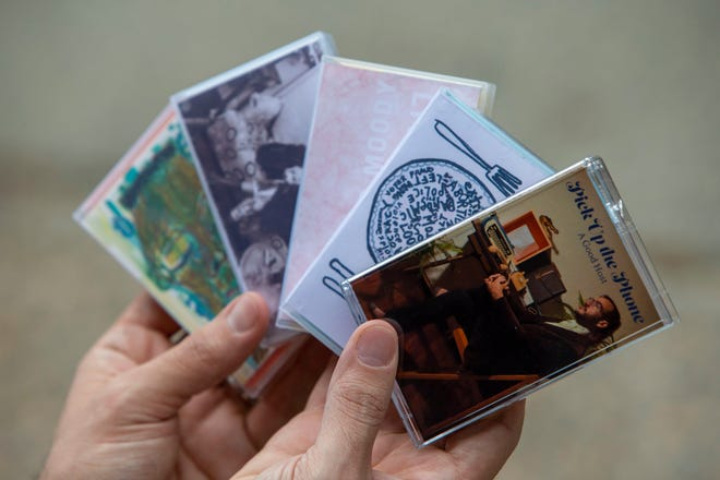 Joseph Carlough of Philadelphia owns the all-cassette music label This & That, which he runs from his East Falls home. He's part of a new revival for the beloved old format.  (Alejandro A. Alvarez/Philadelphia Inquirer/TNS)