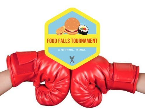 The 2021 Food Falls restaurant tournament has begun.