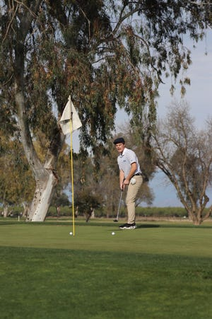 Redwood's Nolan Prichett shot a match-low 38 on March 17 to lead the Rangers to a non-league victory over Tulare Union.