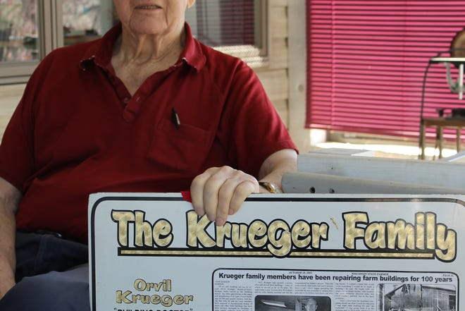 Orvil Krueger, known as The Building Doctor, learned many of his skills repairing and reconstructing damaged structures while working under his father and at other jobs.