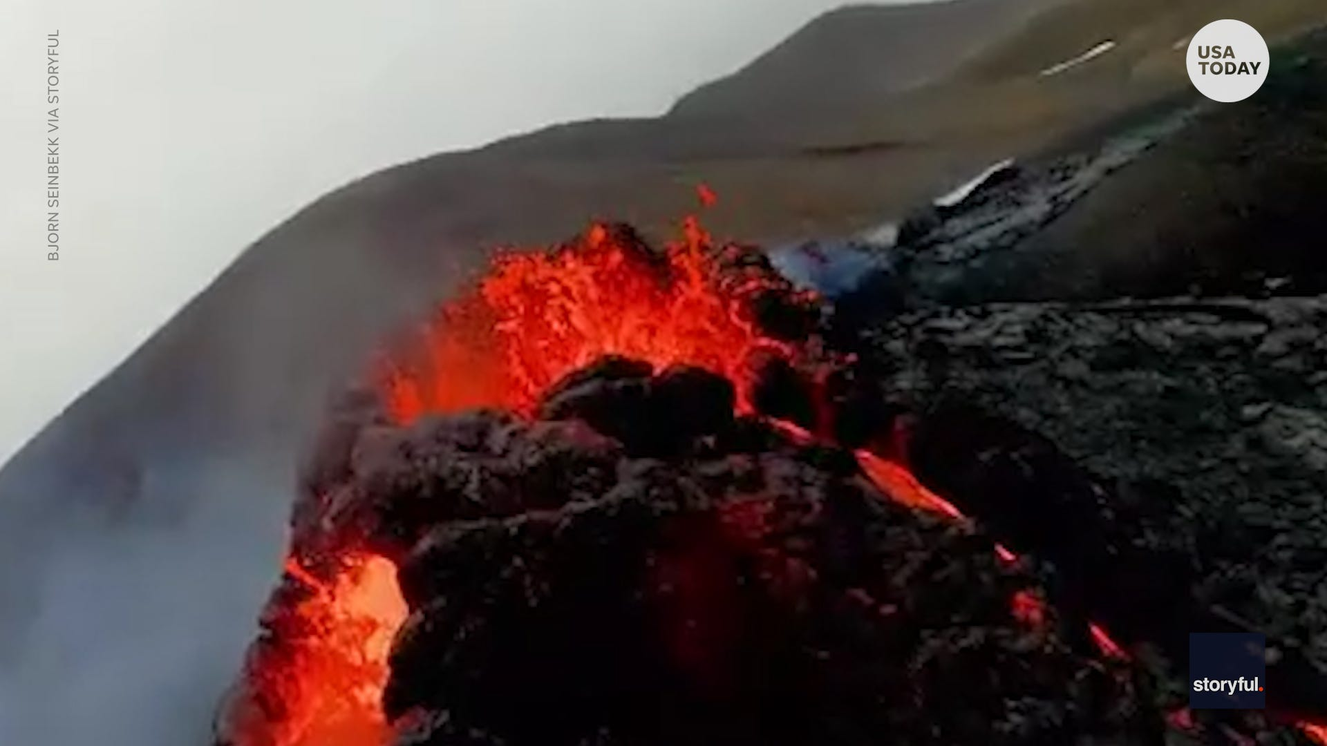 The Fagradalsfjall volcano on the Reykjanes Peninsula in Iceland unexpectedly erupted